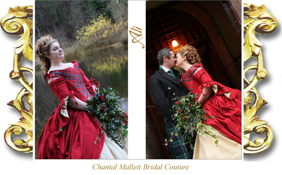 Chantal Mallett Bridal Couture: Bespoke Red and Burgundy Coloured ...